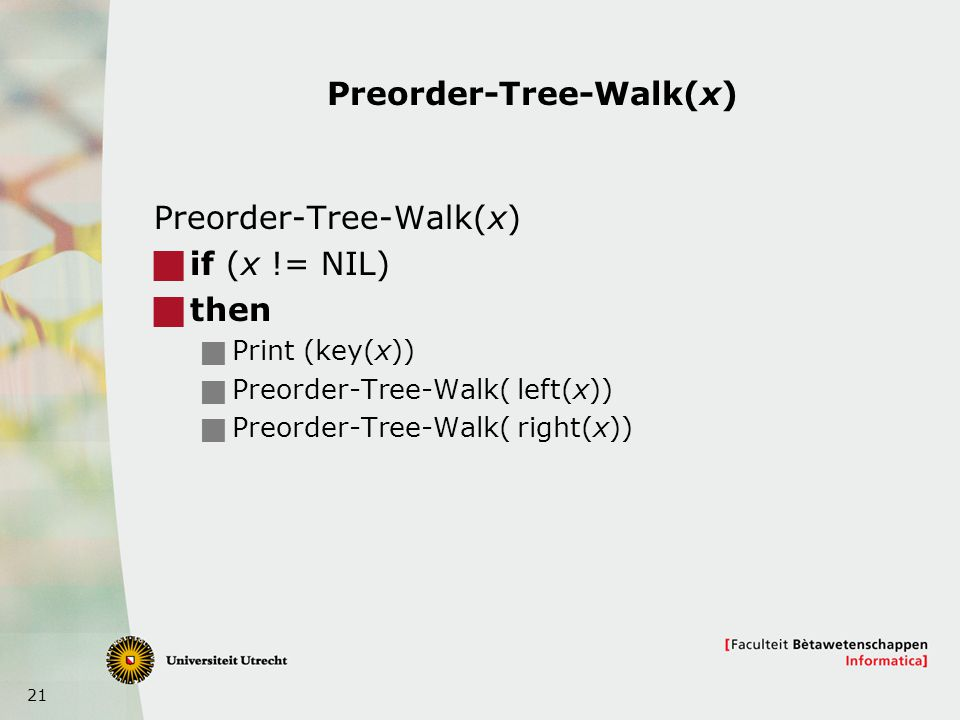 Preorder-Tree-Walk(x)
