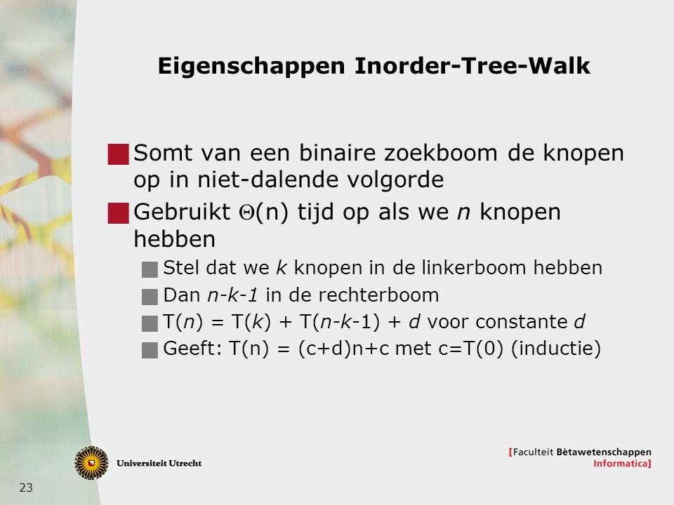 Eigenschappen Inorder-Tree-Walk
