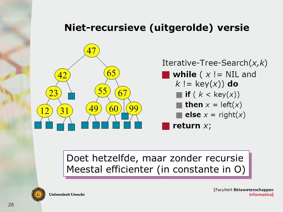Niet-recursieve (uitgerolde) versie
