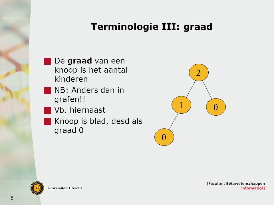 Terminologie III: graad