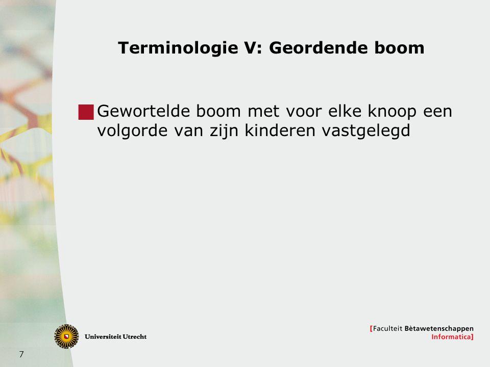 Terminologie V: Geordende boom