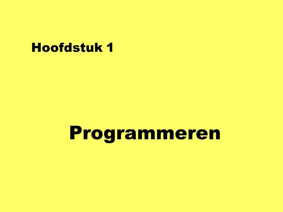 Hoofdstuk 1 Programmeren