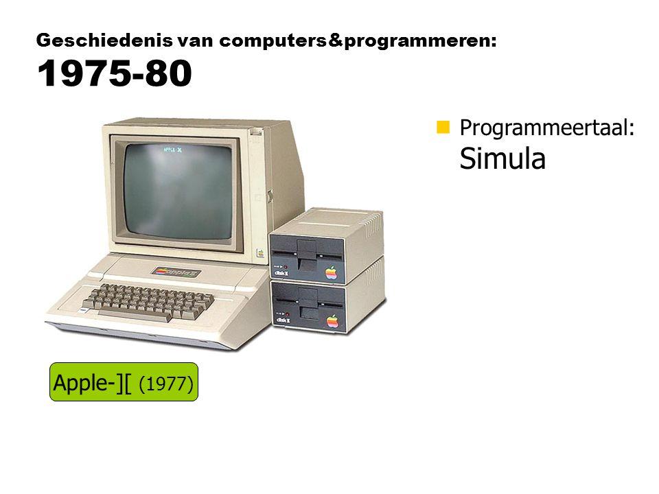 Geschiedenis van computers&programmeren: 1975-80