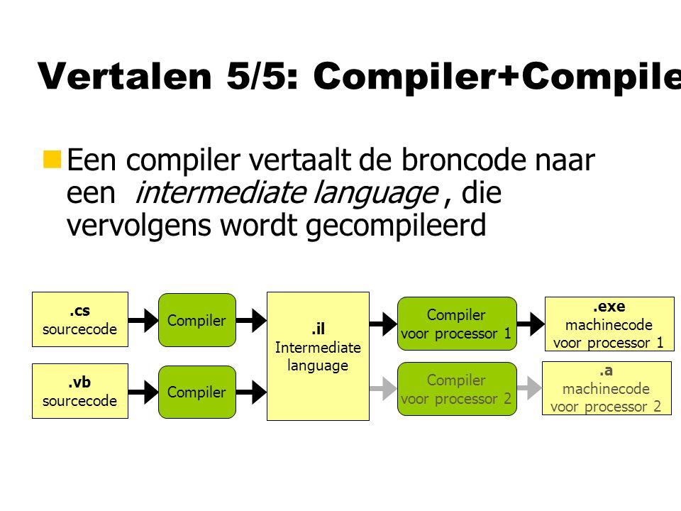 Vertalen 5/5: Compiler+Compiler
