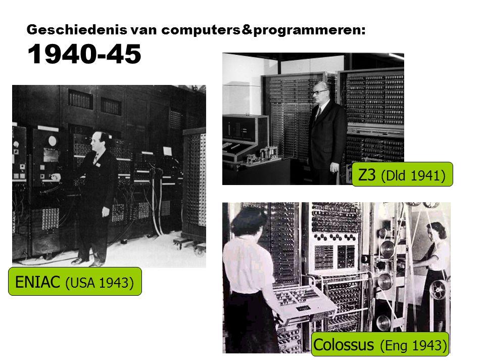 Geschiedenis van computers&programmeren: 1940-45