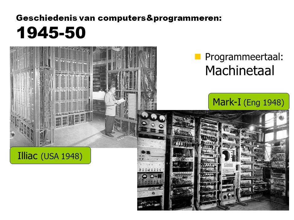 Geschiedenis van computers&programmeren: 1945-50