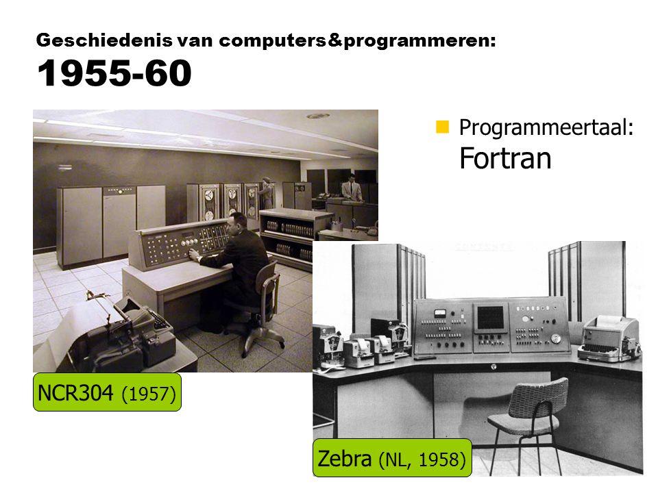 Geschiedenis van computers&programmeren: 1955-60