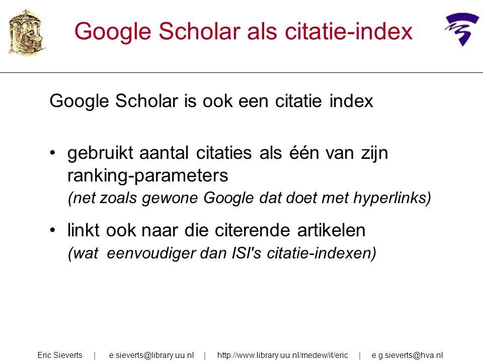 Google Scholar als citatie-index