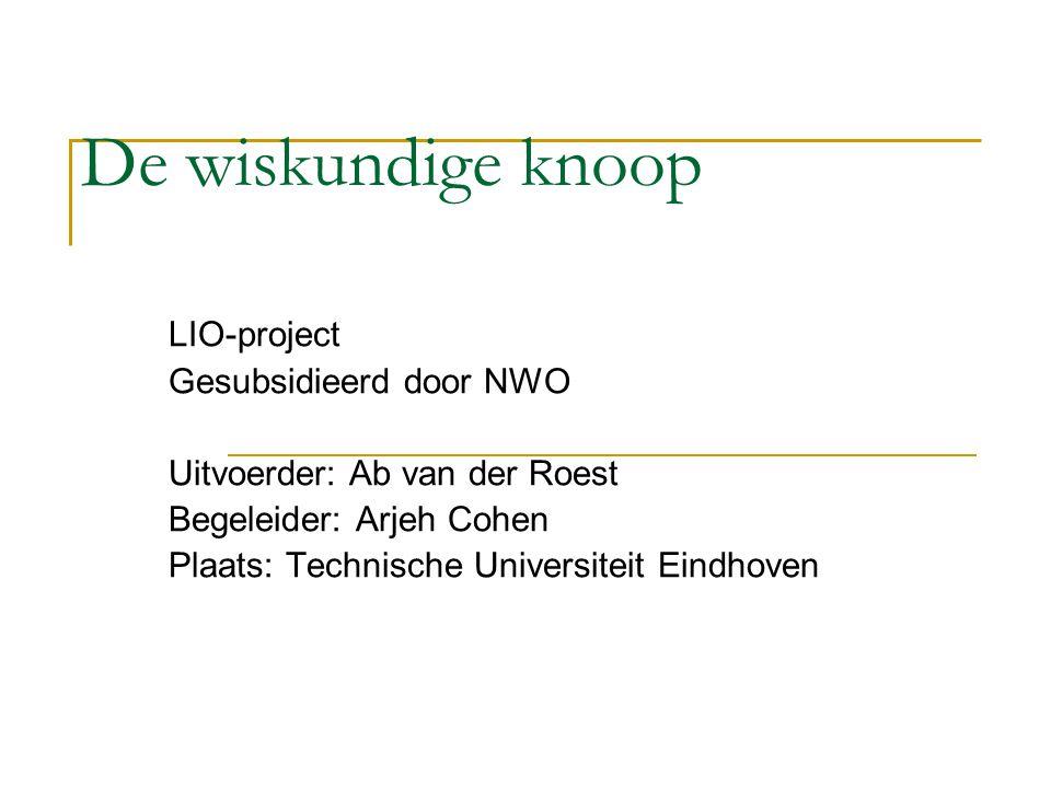 De wiskundige knoop LIO-project Gesubsidieerd door NWO