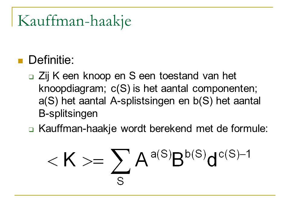 Kauffman-haakje Definitie: