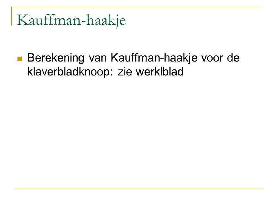 Kauffman-haakje Berekening van Kauffman-haakje voor de klaverbladknoop: zie werklblad