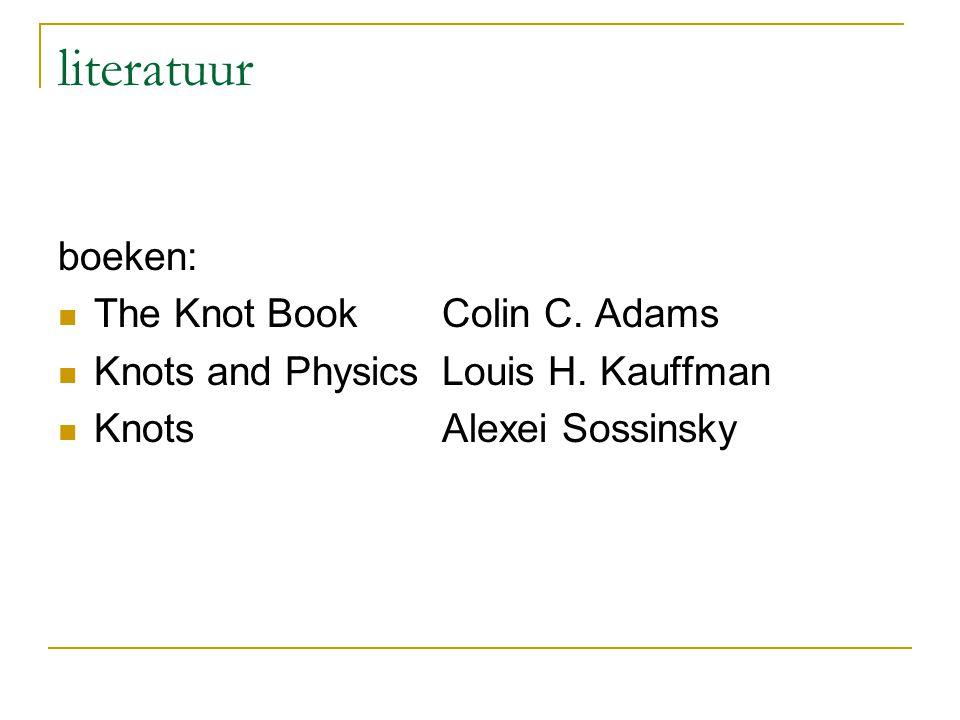 literatuur boeken: The Knot Book Colin C. Adams