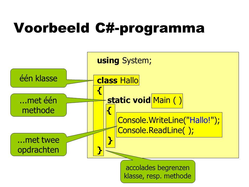 Voorbeeld C#-programma