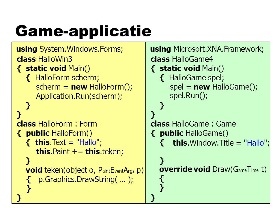 Game-applicatie using System.Windows.Forms;