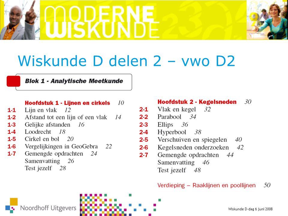Wiskunde D delen 2 – vwo D2