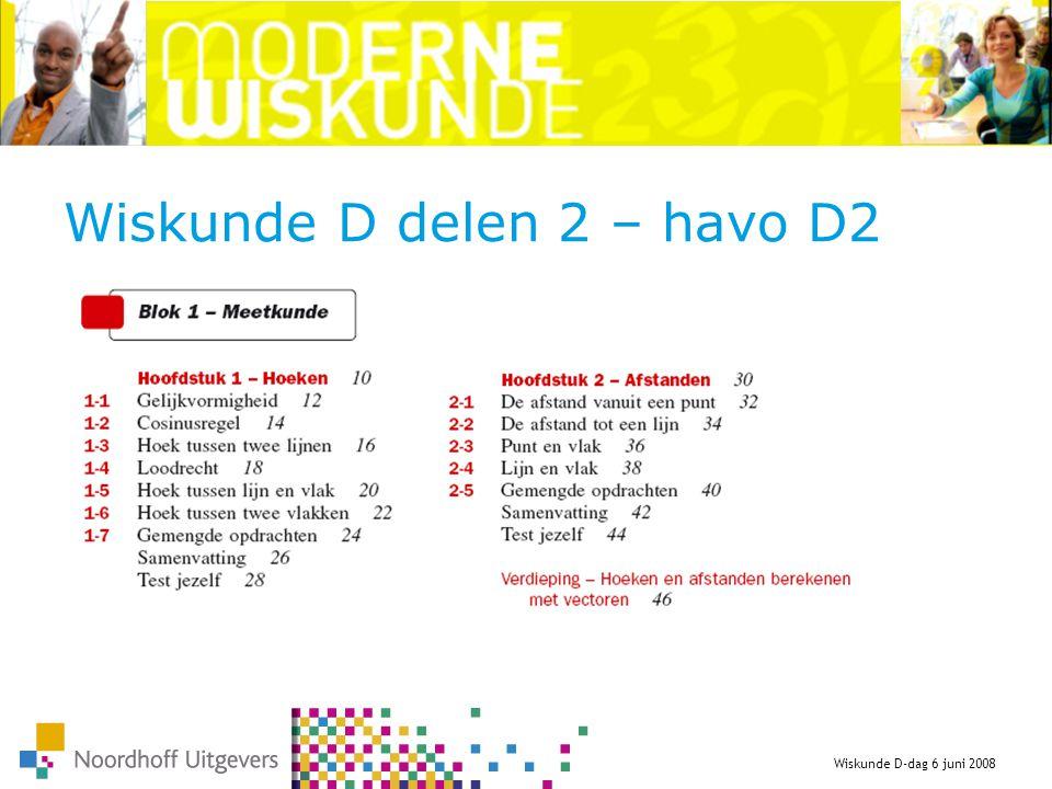 Wiskunde D delen 2 – havo D2