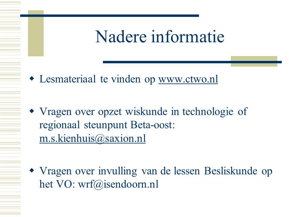 Nadere informatie Lesmateriaal te vinden op www.ctwo.nl