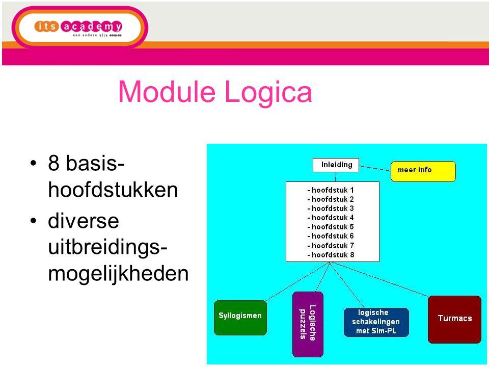 Module Logica 8 basis-hoofdstukken diverse uitbreidings-mogelijkheden