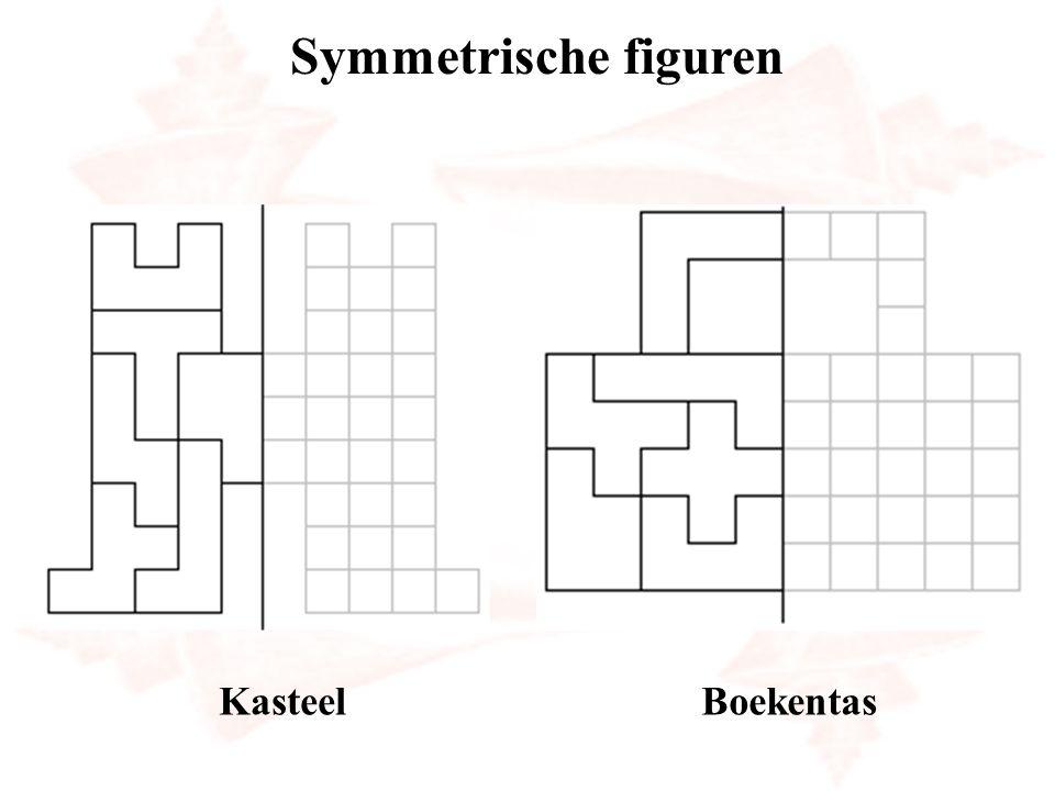 Symmetrische figuren Kasteel Boekentas