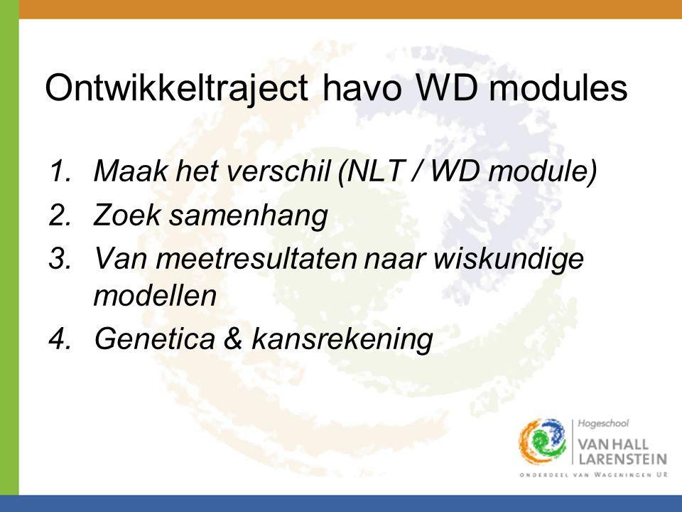 Ontwikkeltraject havo WD modules