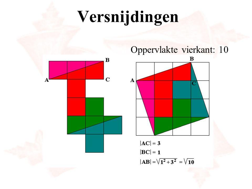 Versnijdingen Oppervlakte vierkant: 10