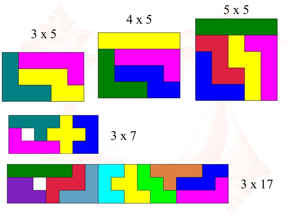 5 x 5 4 x 5 3 x 5 3 x 7 3 x 17