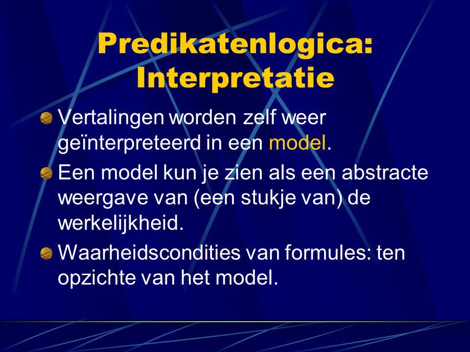 Predikatenlogica: Interpretatie
