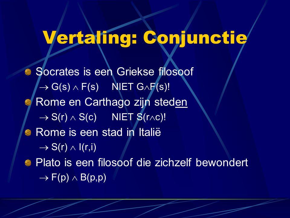 Vertaling: Conjunctie
