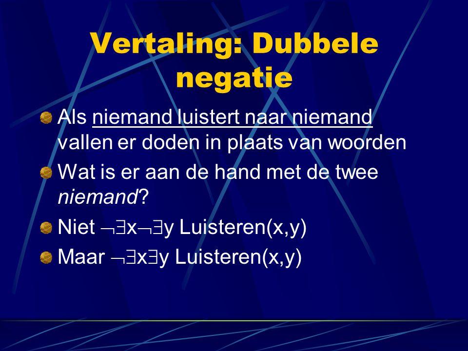 Vertaling: Dubbele negatie