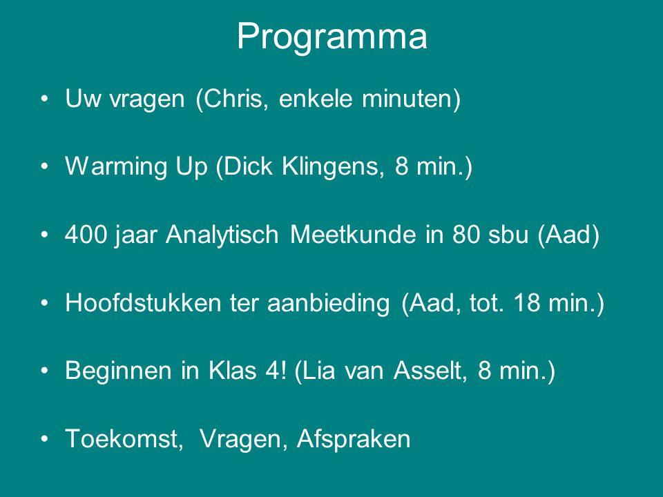 Programma Uw vragen (Chris, enkele minuten)
