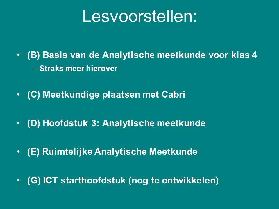 Lesvoorstellen: (B) Basis van de Analytische meetkunde voor klas 4