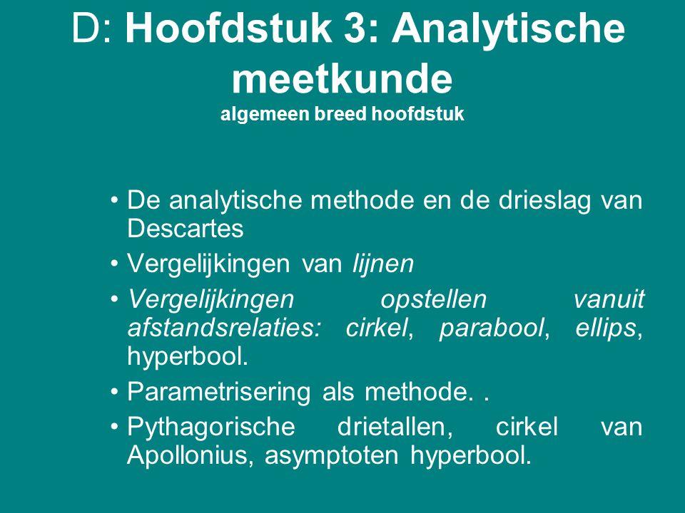 D: Hoofdstuk 3: Analytische meetkunde algemeen breed hoofdstuk