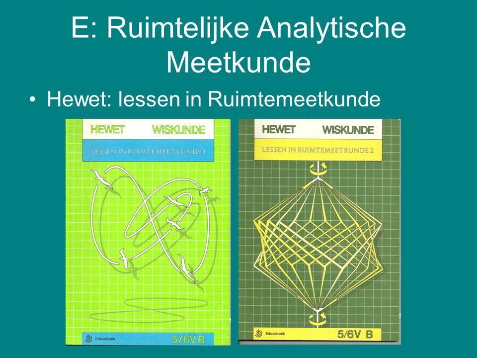 E: Ruimtelijke Analytische Meetkunde