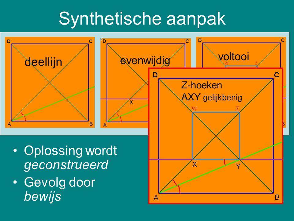 Synthetische aanpak deellijn voltooi evenwijdig