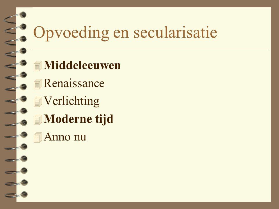 Opvoeding en secularisatie