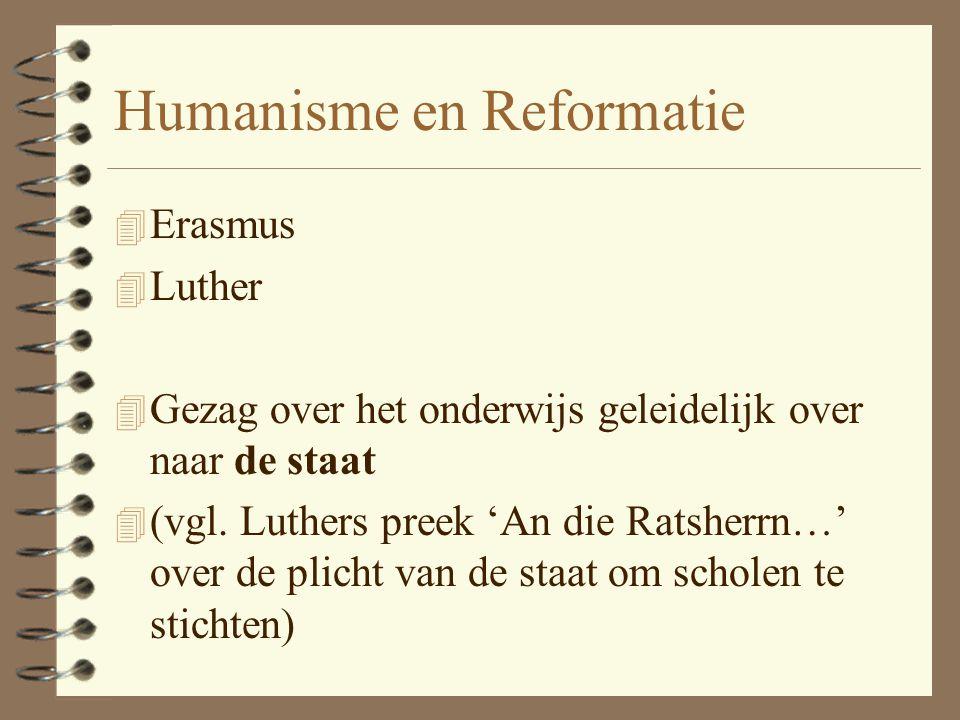 Humanisme en Reformatie