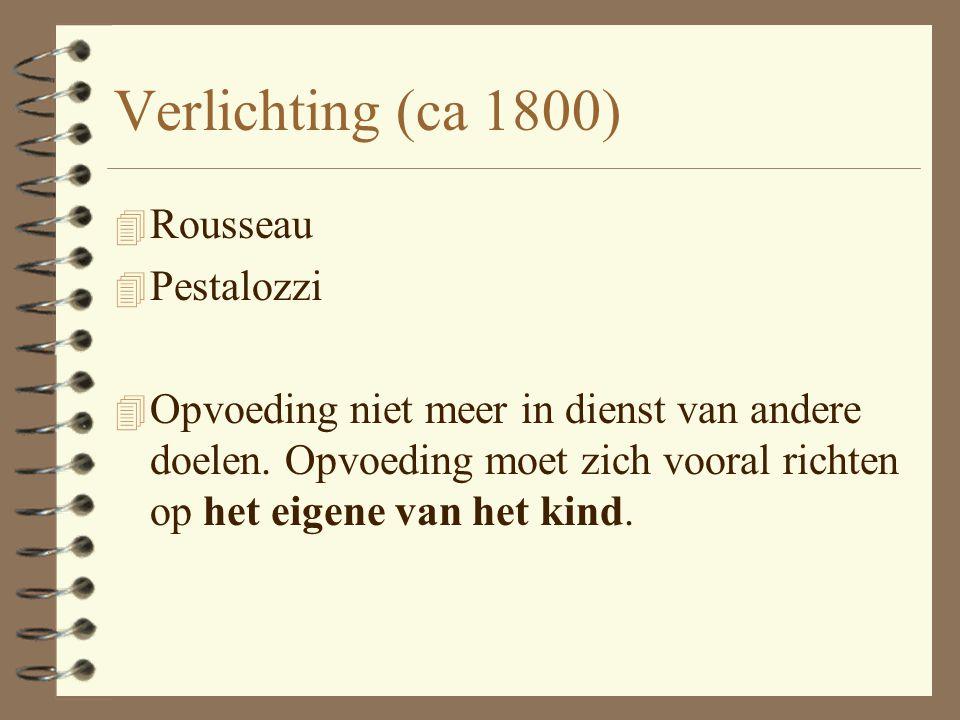 Verlichting (ca 1800) Rousseau Pestalozzi