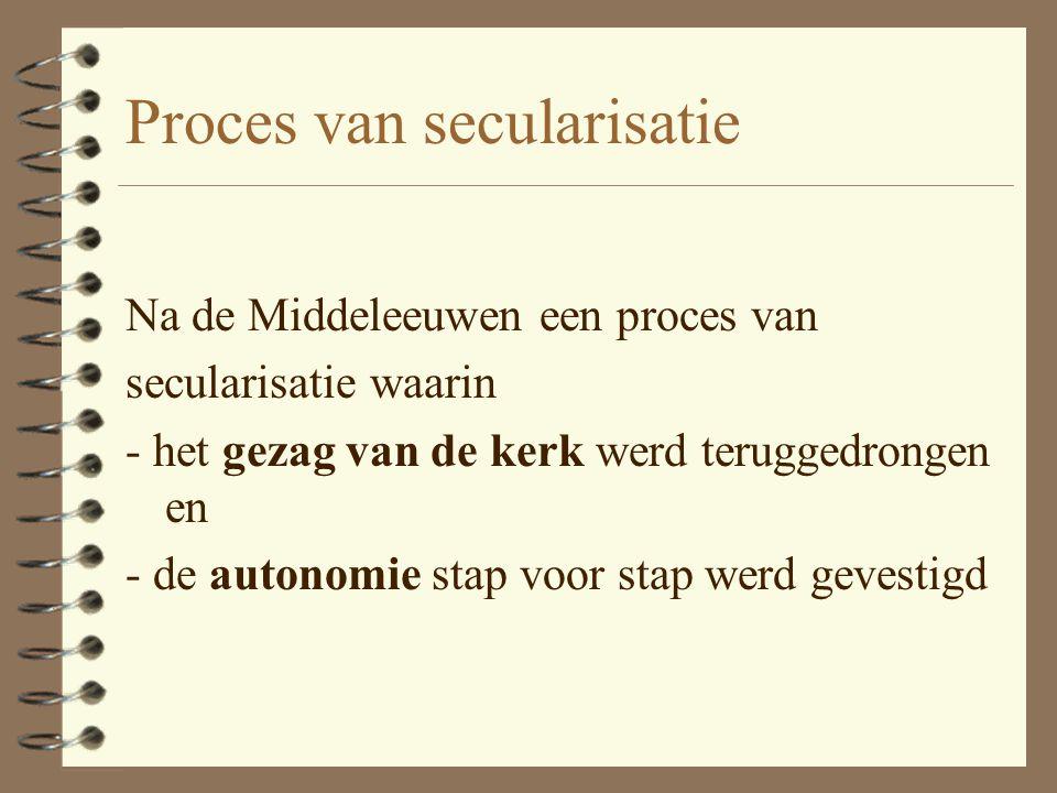Proces van secularisatie