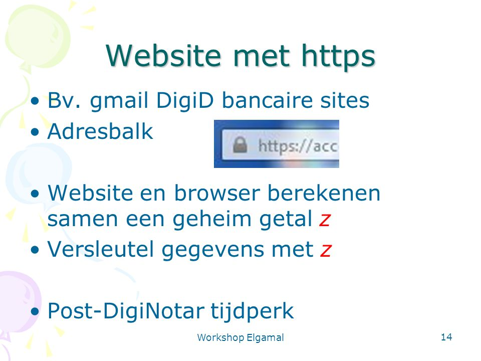 Website met https Bv. gmail DigiD bancaire sites Adresbalk