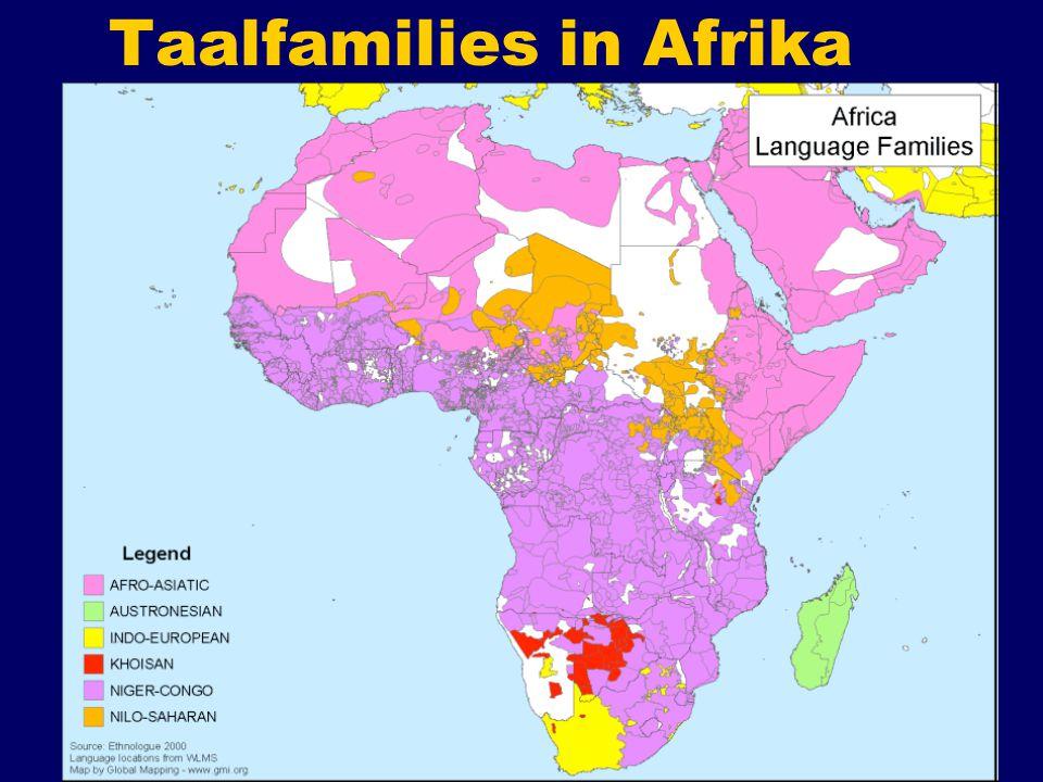 Taalfamilies in Afrika