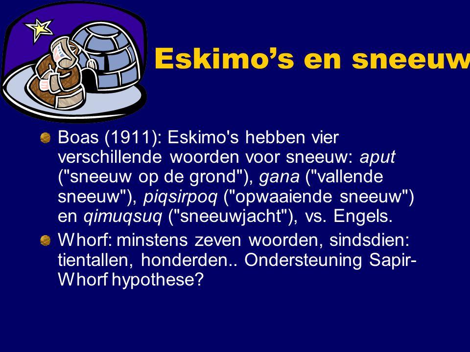Eskimo's en sneeuw