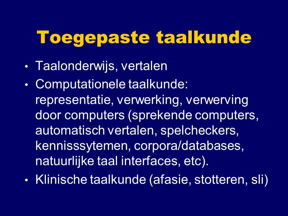 Toegepaste taalkunde Taalonderwijs, vertalen
