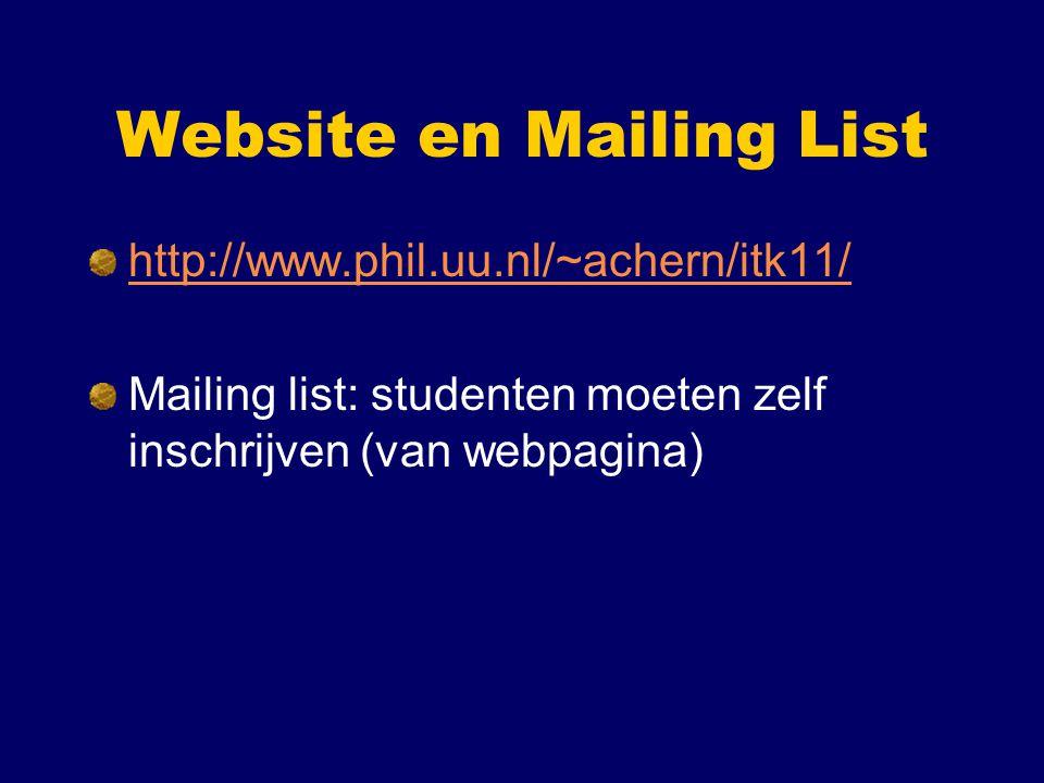 Website en Mailing List