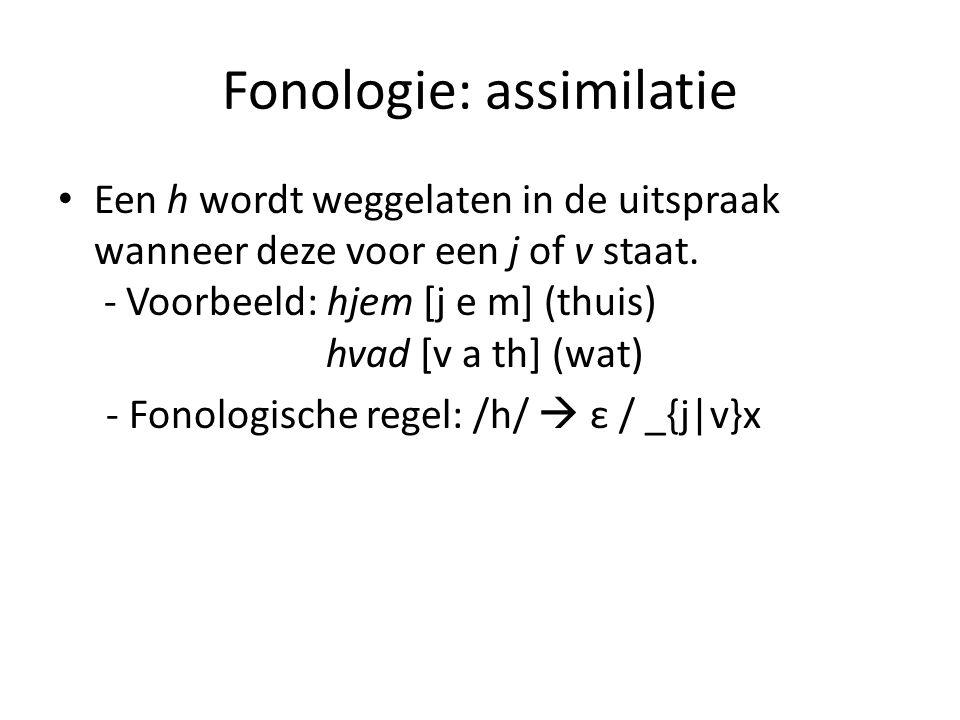 Fonologie: assimilatie