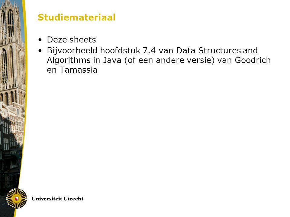 Studiemateriaal Deze sheets
