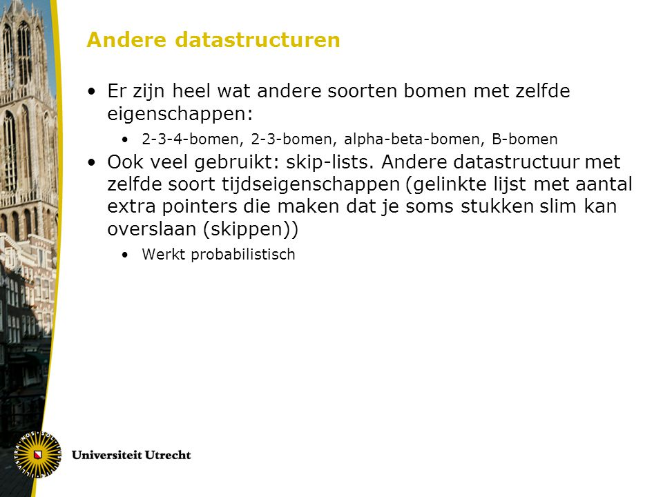 Andere datastructuren