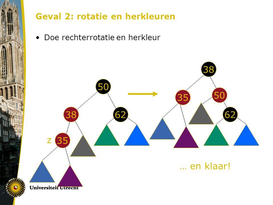 Geval 2: rotatie en herkleuren