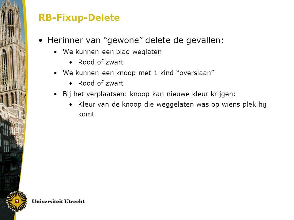 RB-Fixup-Delete Herinner van gewone delete de gevallen: