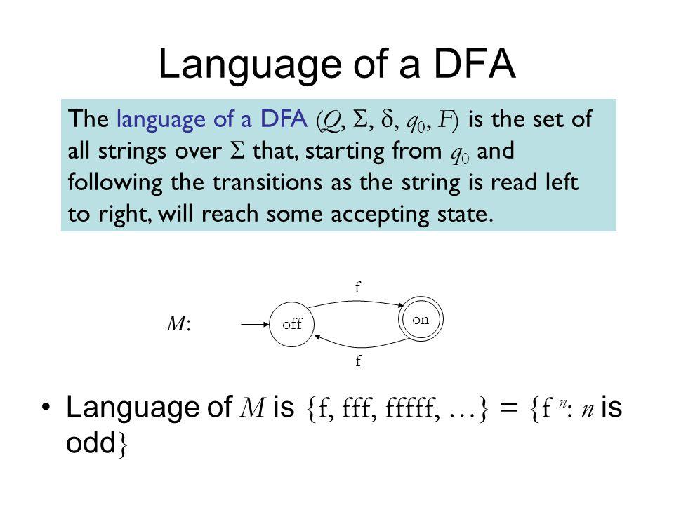 Language of a DFA