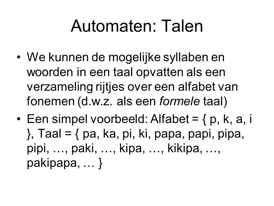 Automaten: Talen
